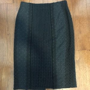 Rebecca Taylor Crochet Pencil Skirt
